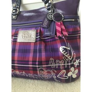 Coach Poppy Tartan Handbag